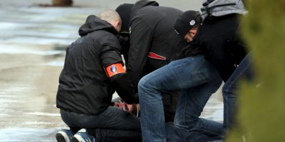 Algunos aprovecharon para protestar pero fueron controlados. Foto:Getty Images