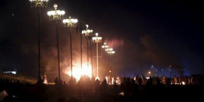 Lo que detonó una fuerte explosión, que acabó con la vida de al menos 63 personas. Foto:AFP