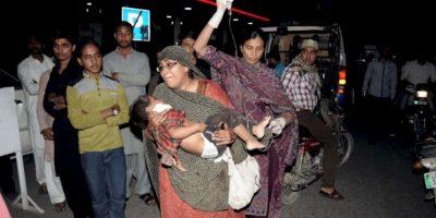 Así fueron los momentos después de las detonaciones. Foto:AP