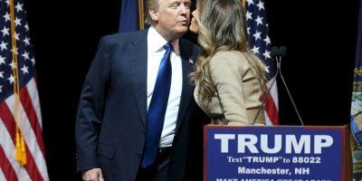 Melania Trump apoya las polémicas declaraciones de su marido sobre el tema de migración. Foto:Getty Images