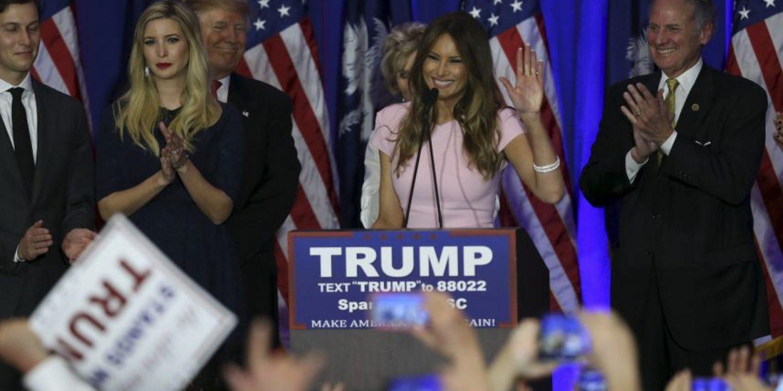 Tiene un hijo con Trump, llamado Barron. Foto:Getty Images