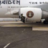 Dicho suceso dejó a dos lesionados, además de ocasionar este daño al Ed Force One. Foto:Vía Iron Maiden
