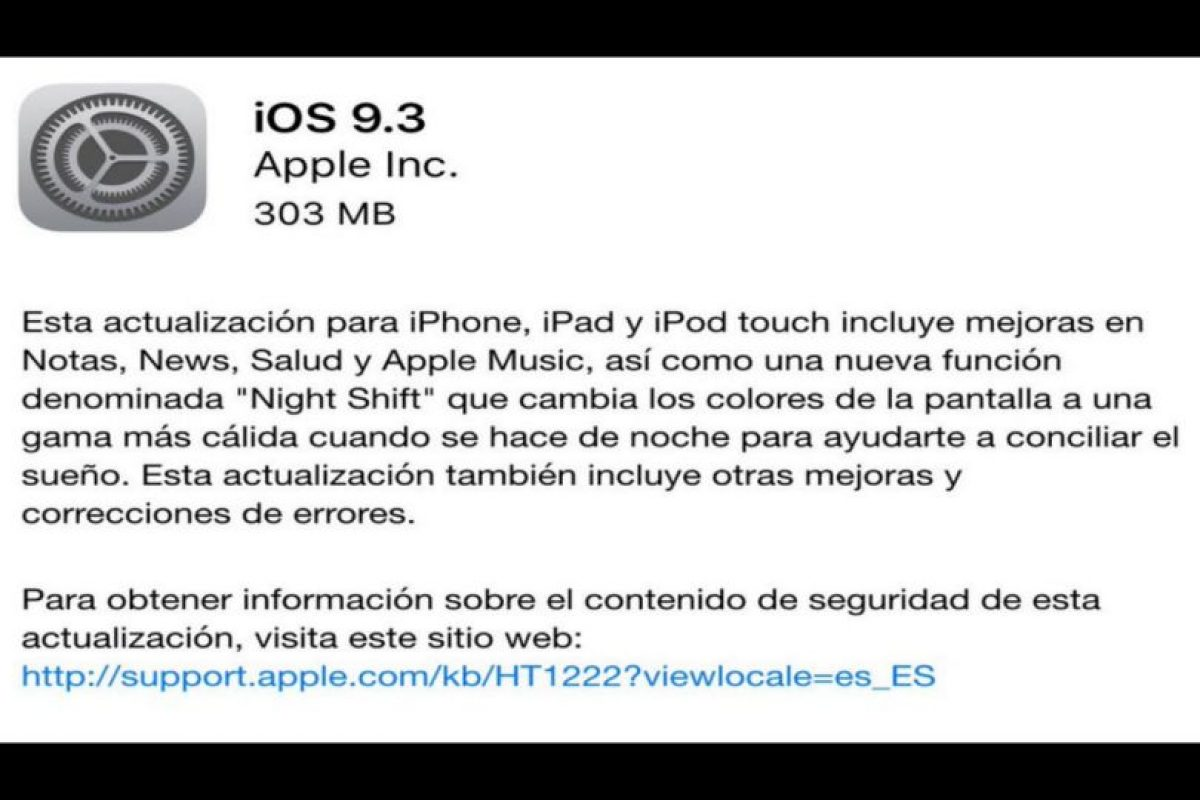 El iOS 9.3 presentó problemas desde las primeras horas. Foto:Apple