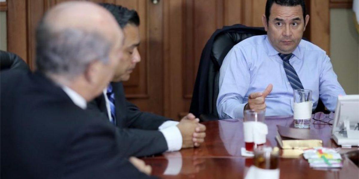 De esto hablaron el presidente Jimmy Morales y el jefe del Congreso, Mario Taracena