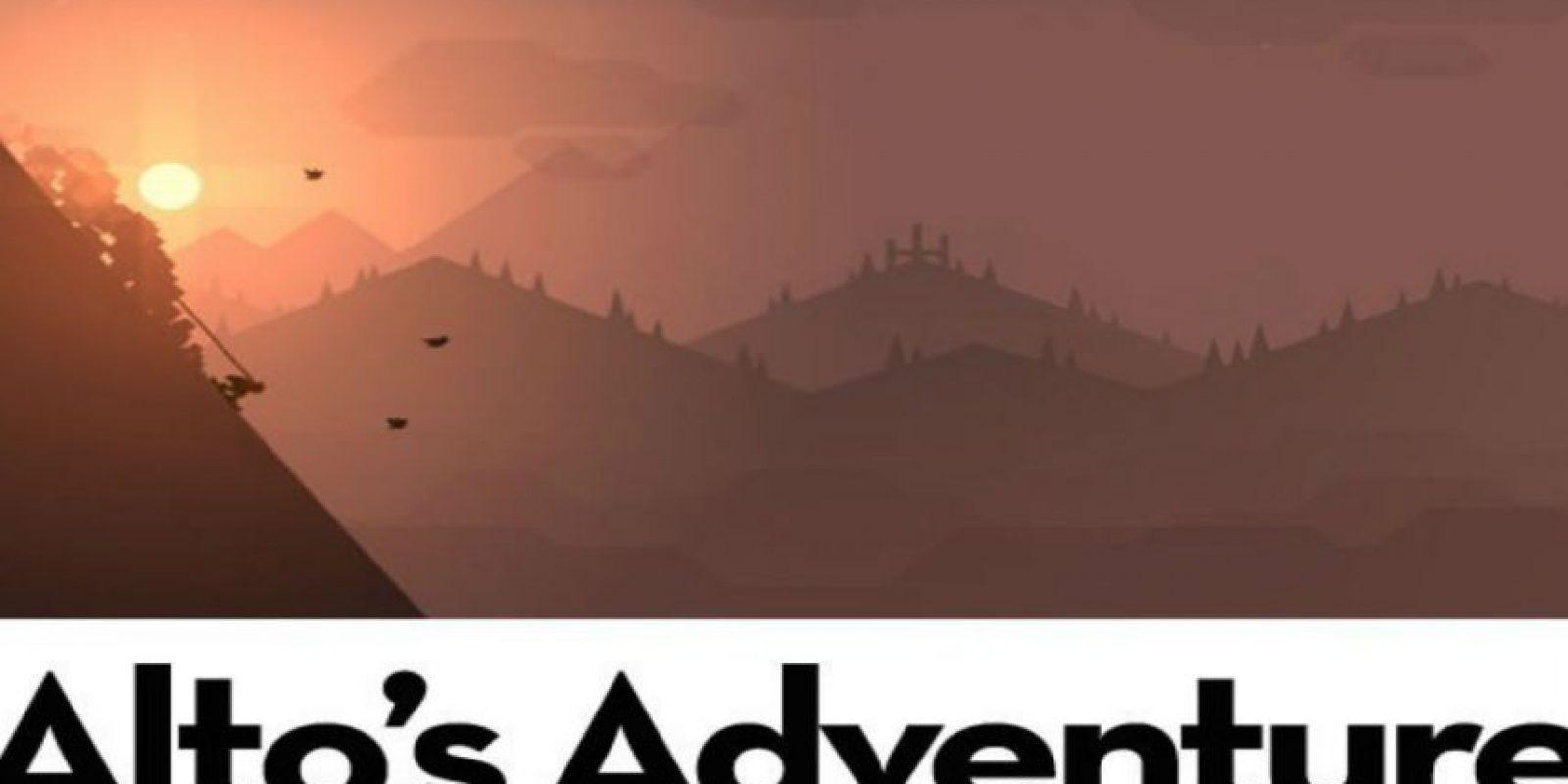 3.- Alto's Adventure. Persigan llamas y sorteen obstáculos mientras disfrutan de los maravillosos gráficos. Foto:Alto's Adventure