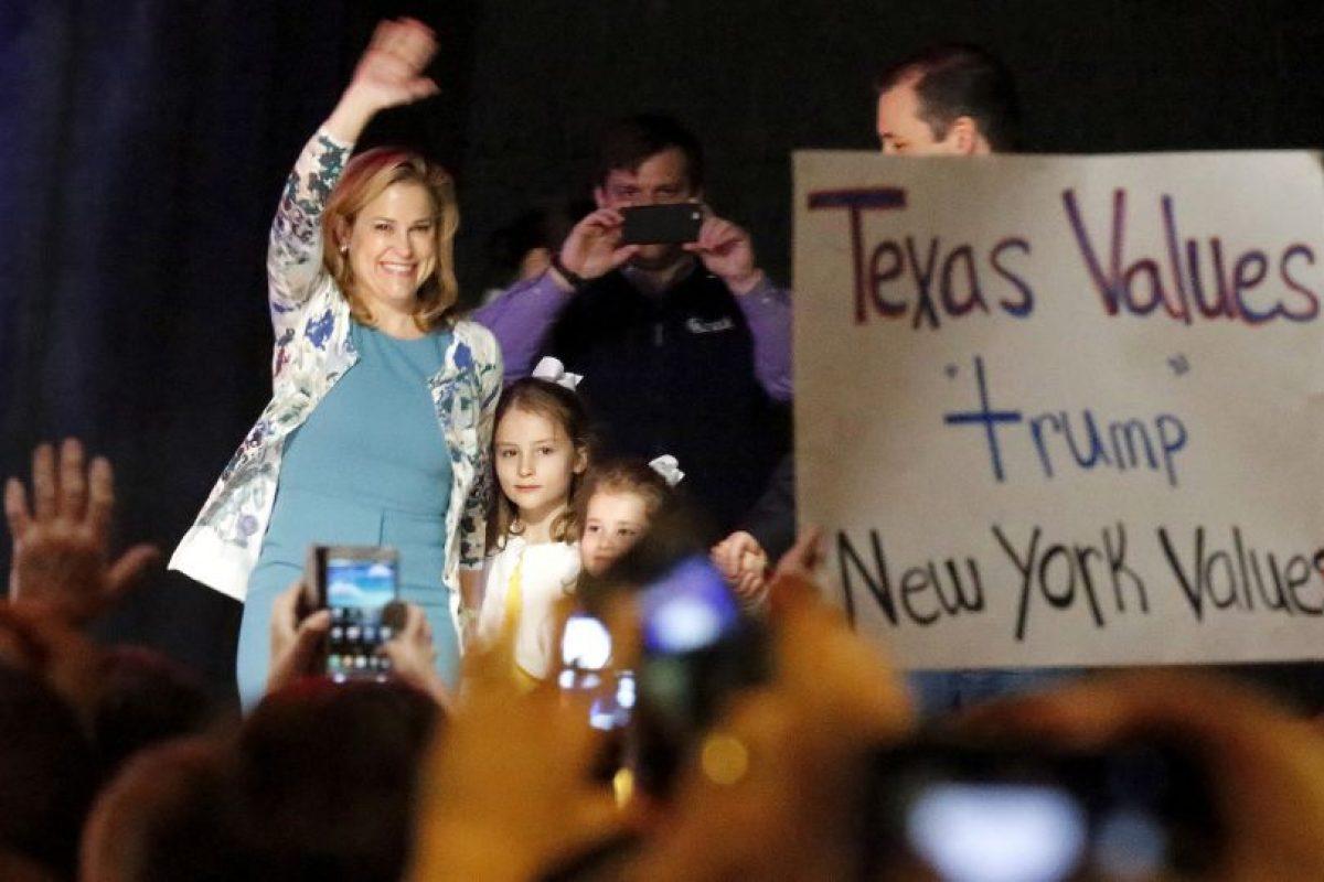 Heidi Cruz, esposa de su principal oponente republicano Ted Cruz. Foto:Getty Images
