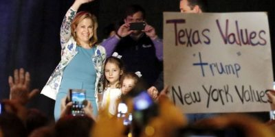 Heidi Cruz, esposa de su principal oponente republicano Ted Cruz. Foto: Getty Images