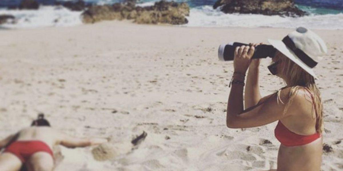 María Sharapova olvida su escándalo de dopaje en las playas de México