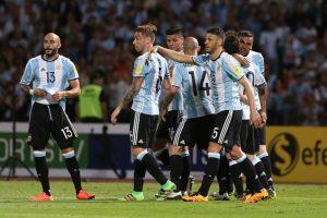 """La """"Albiceleste"""" llegó a 11 puntos, y son terceros de la Clasificación. Foto:Getty Images"""