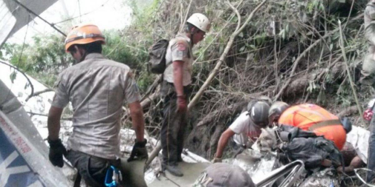 Localizan avioneta caída cerca del volcán de Fuego y confirman dos fallecidos