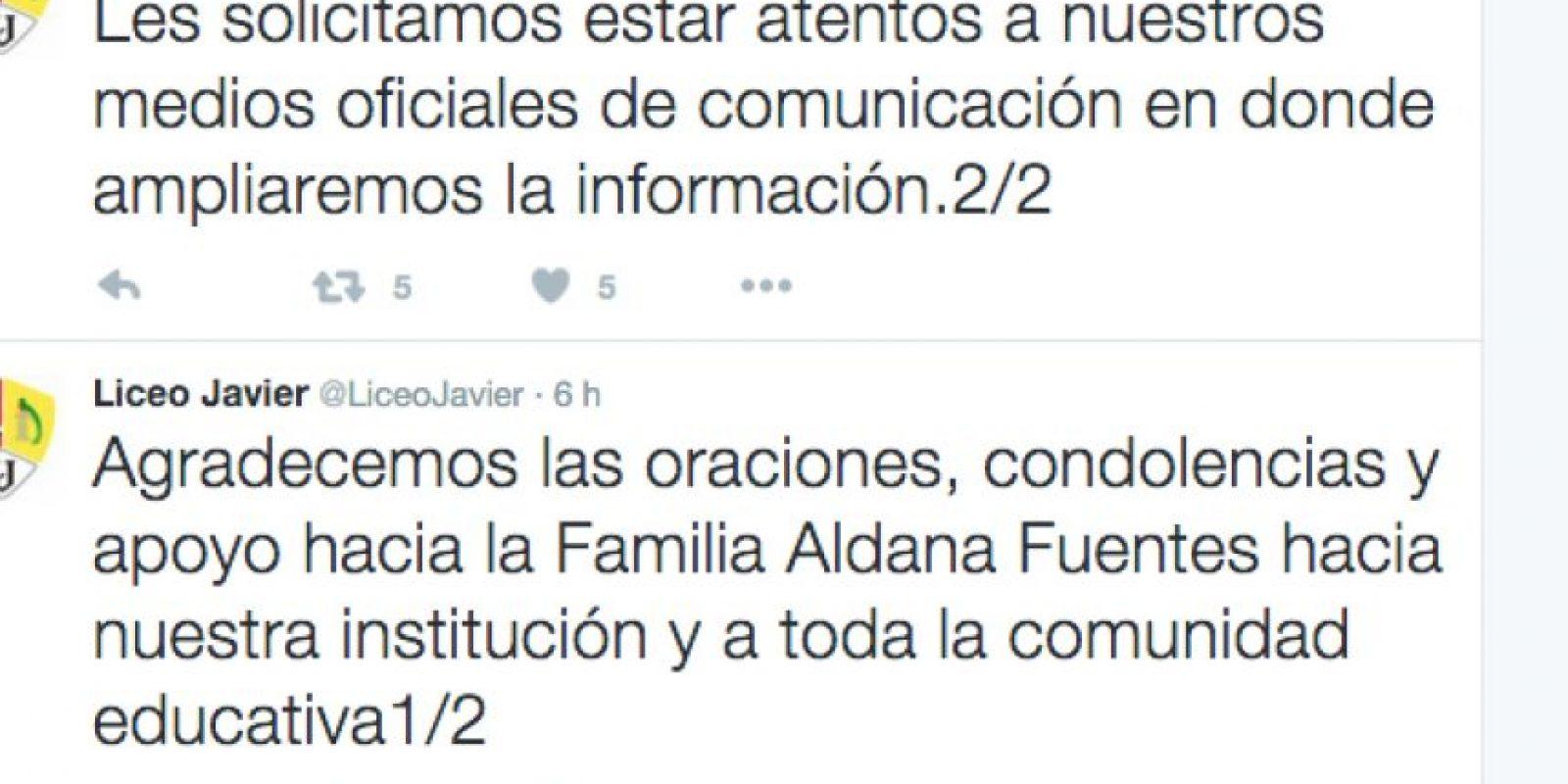 Foto:Twitter del Liceo Javier