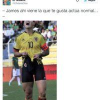 Aunque James Rodríguez dio la nota por sus gestos al perderse varias oportunidades de gol. Foto:Vía twitter.com