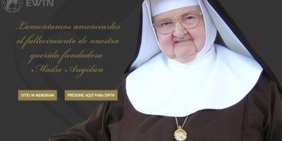 La Madre María Angélica de la Anunciación fundó la Eternal Word Television Network, en 1981. Foto:www.ewtn.com