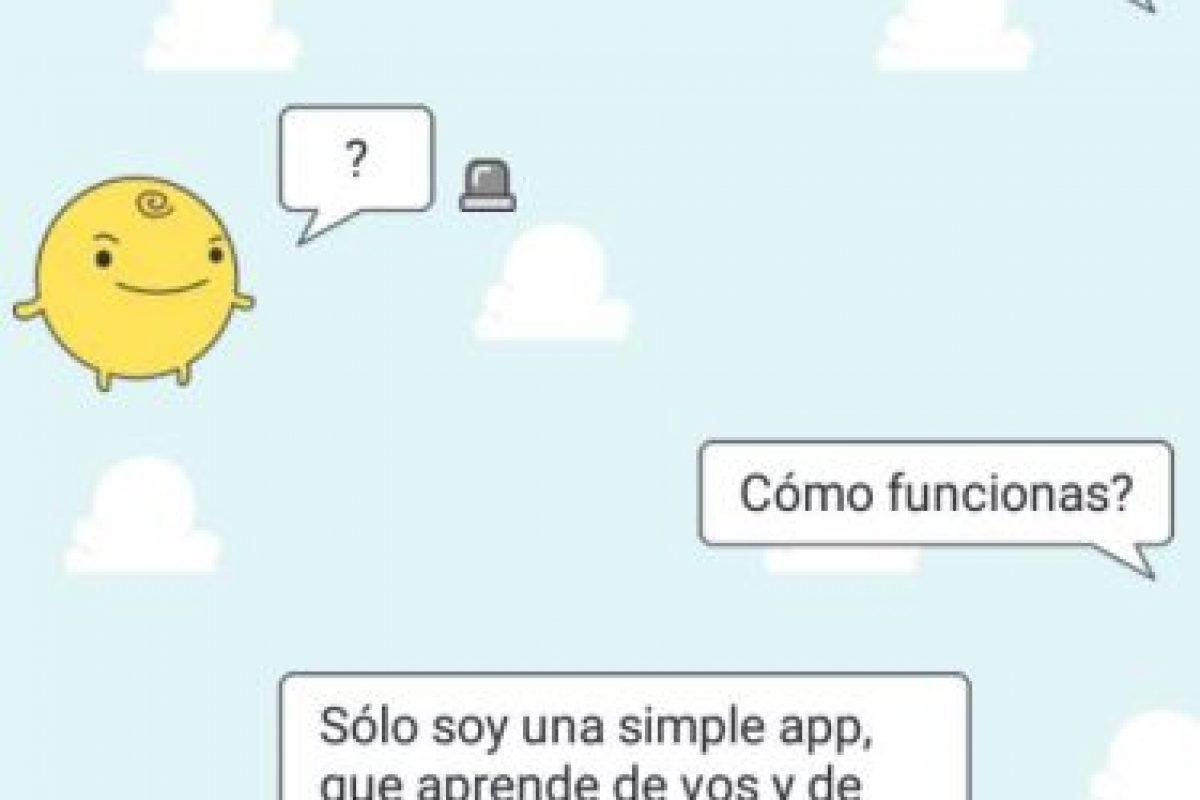 La aplicación nos explica cómo funciona. Foto:Aplicación SimSimi