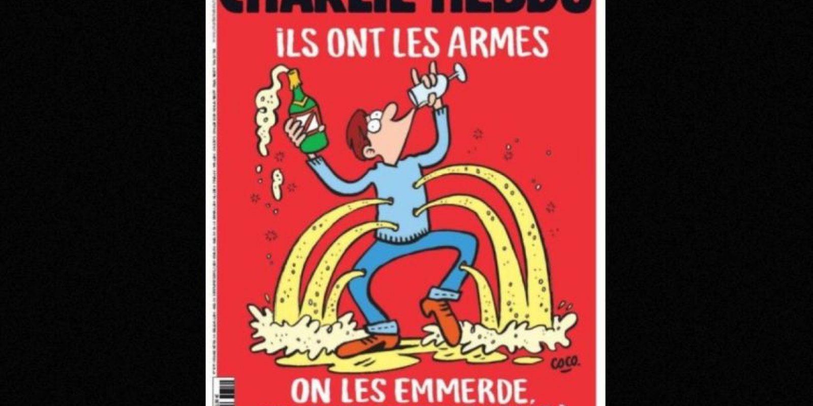 Esta es la portada del semanario tras los atentados en París del viernes 13 de noviembre de 2015 Foto:Charlie Hebdo