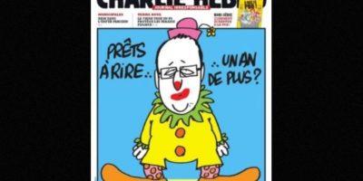 También se burlaban del presidente Francois Hollande. Foto:Charlie Hebdo