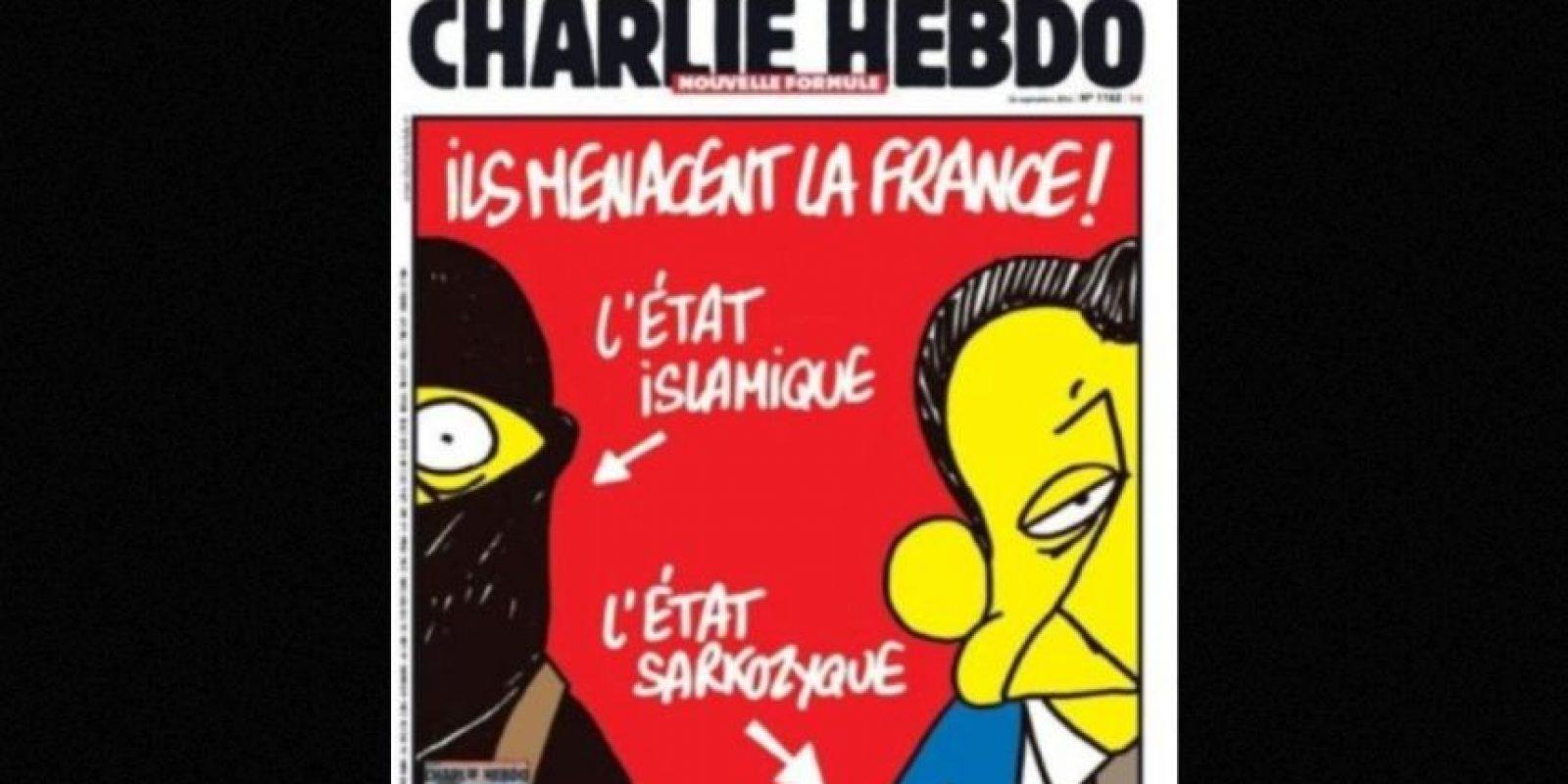 ambién criticaban a gobiernos anteriores, como el de Nicolás Sarkozy. Foto:Charlie Hebdo