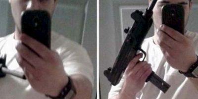 """2. """"Atrápenme, tengo un arma"""": Jules Boher fue tan inteligente que publicó un selfie con el arma que usó para robar un banco. El FBI lo arrestó al día siguiente. Foto:Twitter"""