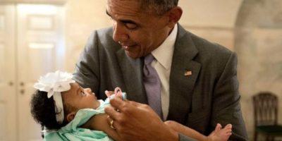 Esta pequeña quedó sorprendida con Obama. Foto: Vía whitehouse.gov/photos