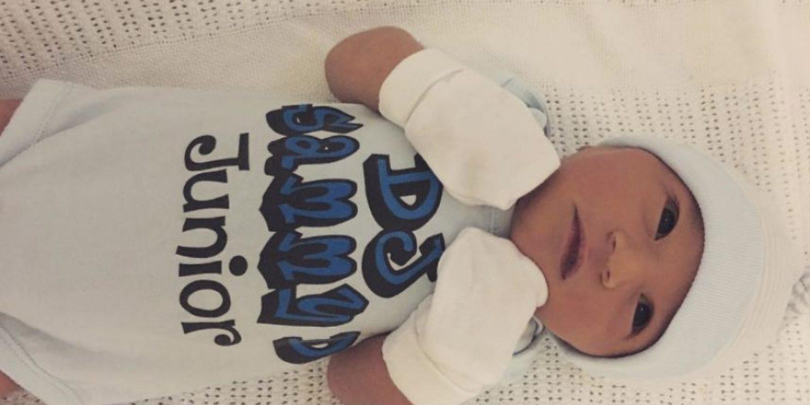 Le nació un niño sano. Foto:vía Instagram