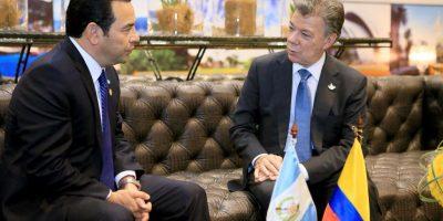 Los tres puntos de la agenda del presidente de Colombia, Juan Manuel Santos, en Guatemala