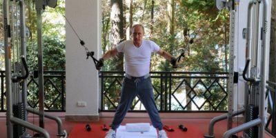 Pero cuando quiere ponerse en forma prefiere su gimnasio privado. Foto:AFP