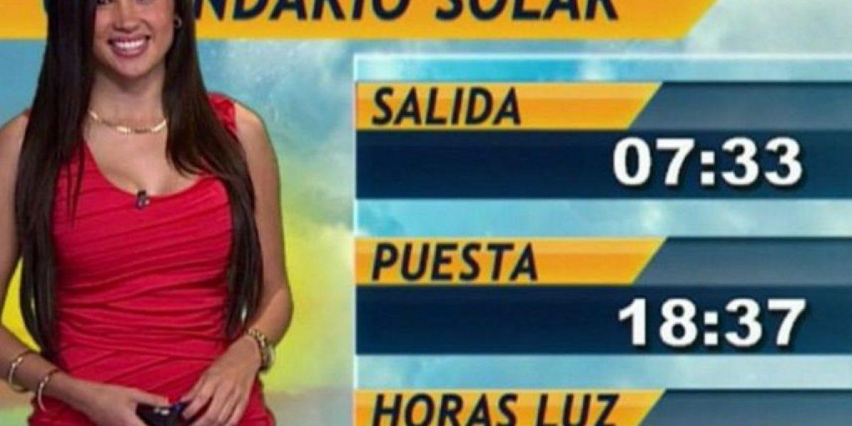 Chica del clima mexicana tuvo una desafortunada falla de vestuario