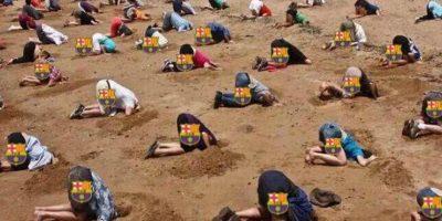 Los aficionados del Barcelona en este momento. Foto:Vía twitter.com/TrollFootball