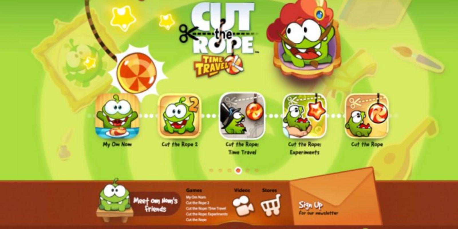 No por nada este juego fue uno de los más descargados en años pasados. Foto:Cut the Rope