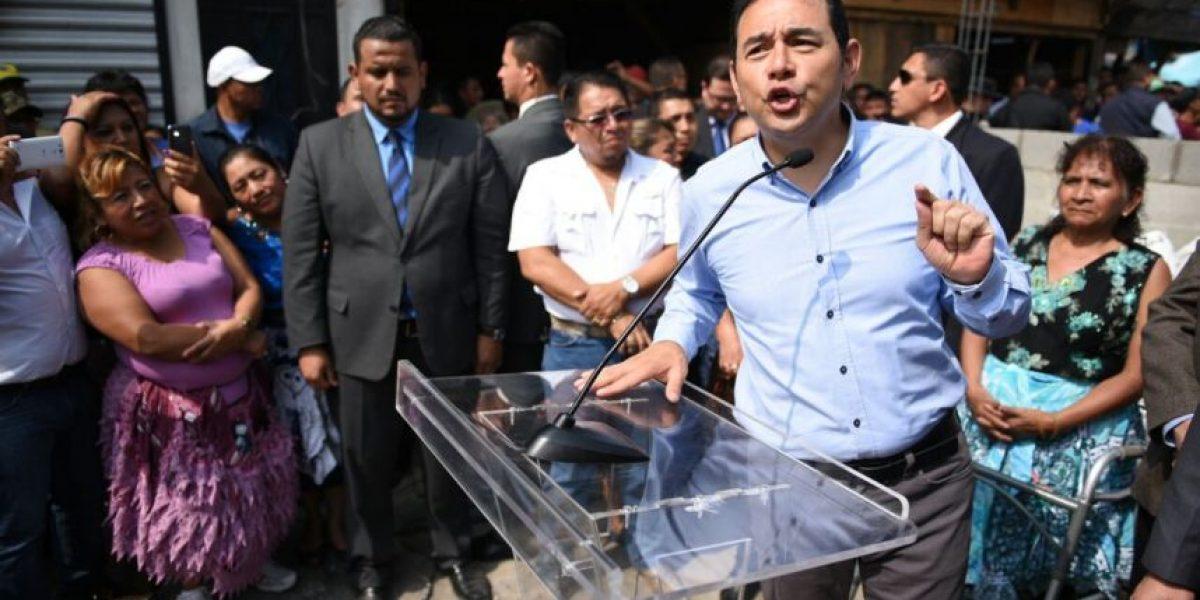 Jimmy Morales vuelve a disculparse por falta de medicamentos
