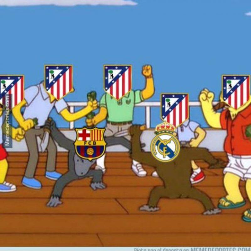 Y siguiendo el duelo, el Atlético de Madrid, segundo lugar de la clasificación. Foto:memedeportes.com