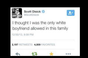 """Porque cuando vino Kris Humpries solo dijo: """"Creí que era el único novio blanco permitido en esta familia"""". Foto:vía Twitter"""