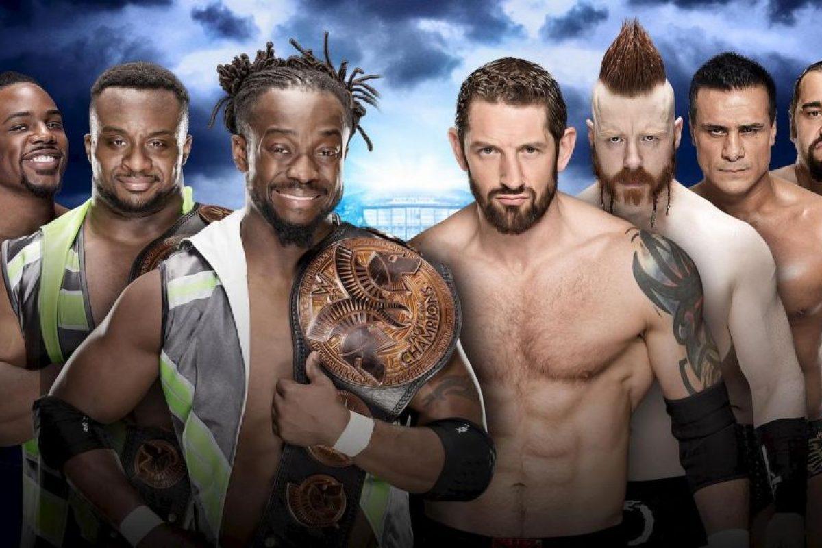 The New Day (Big E, Kofi Kingston & Xavier Woods) vs. The League of Nations (Sheamus, Alberto Del Rio, Rusev & King Barrett) Foto:WWE