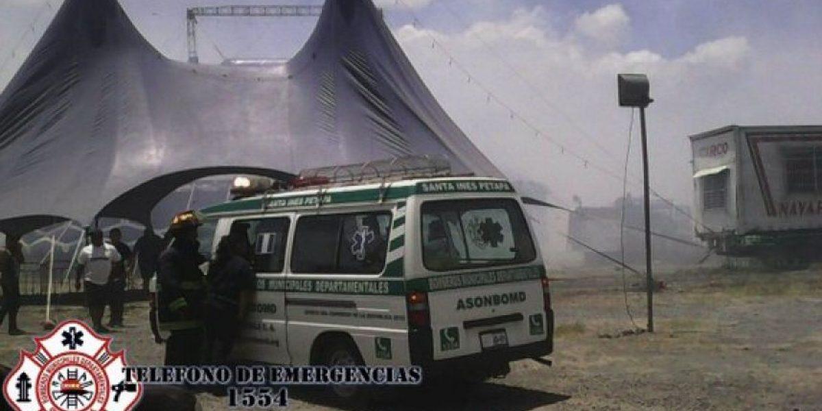 Incendio forestal suspende la función en circo de Villa Nueva