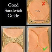 Preparar sánduches: no deben dejar que lo de adentro se salga del pan. Foto:vía Tumblr