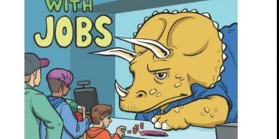 """""""Dinosaurios con trabajos"""", casi tan bueno como """"Juanito y los Clonosaurios"""". Foto:vía Amazon"""