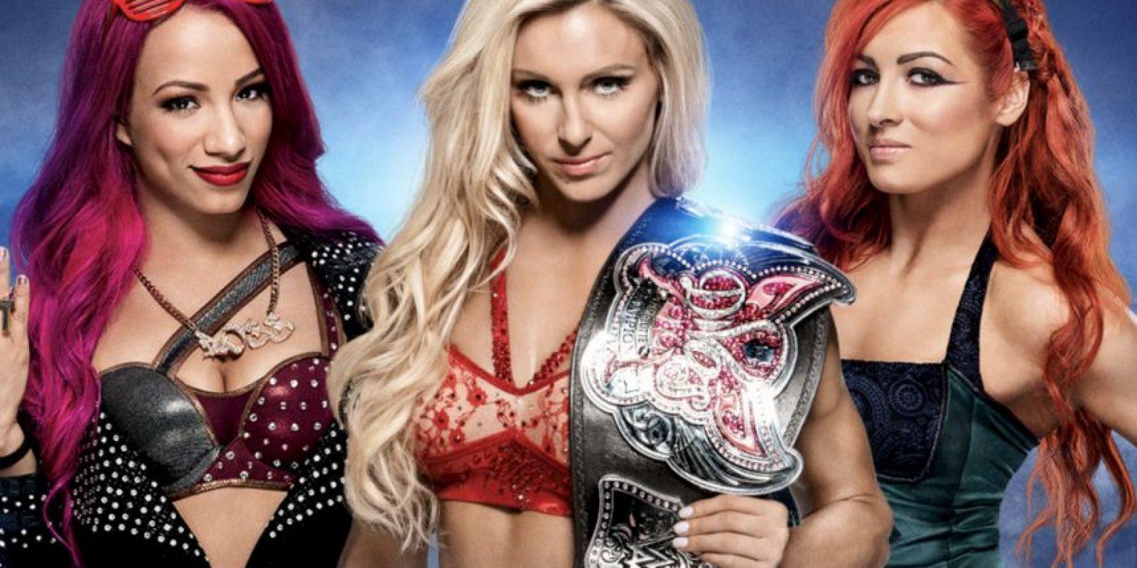 Campeonato de Divas: Charlotte vs. Becky Lynch vs Sasha Banks Foto:WWE