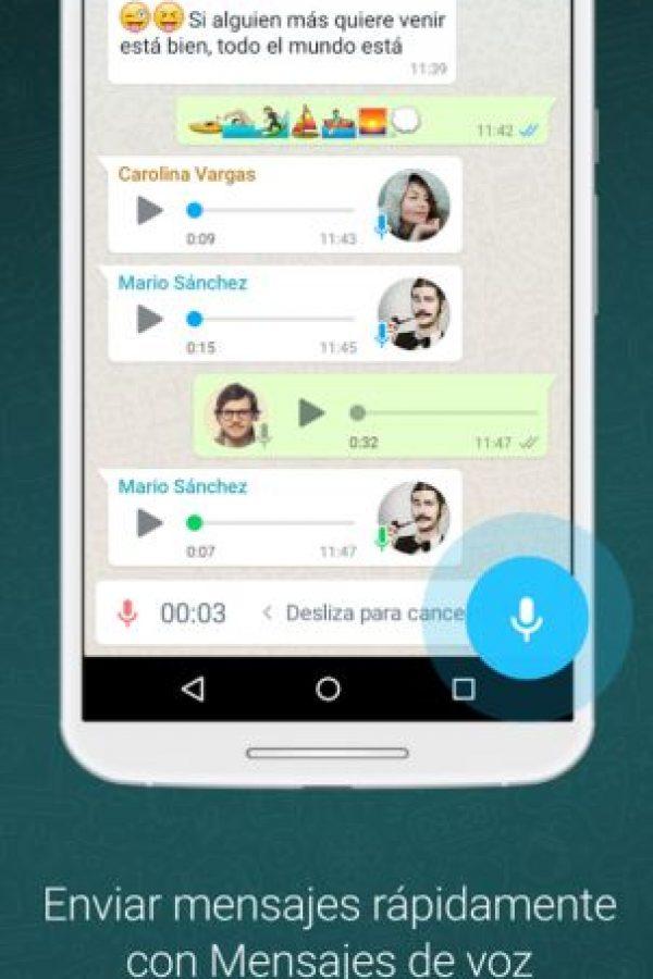 Envía audios. Foto:WhatsApp