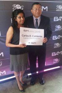 Carlos Calderón y Claudia Del Cid, padres de Carlos Roberto Calderón. Foto:Publinews