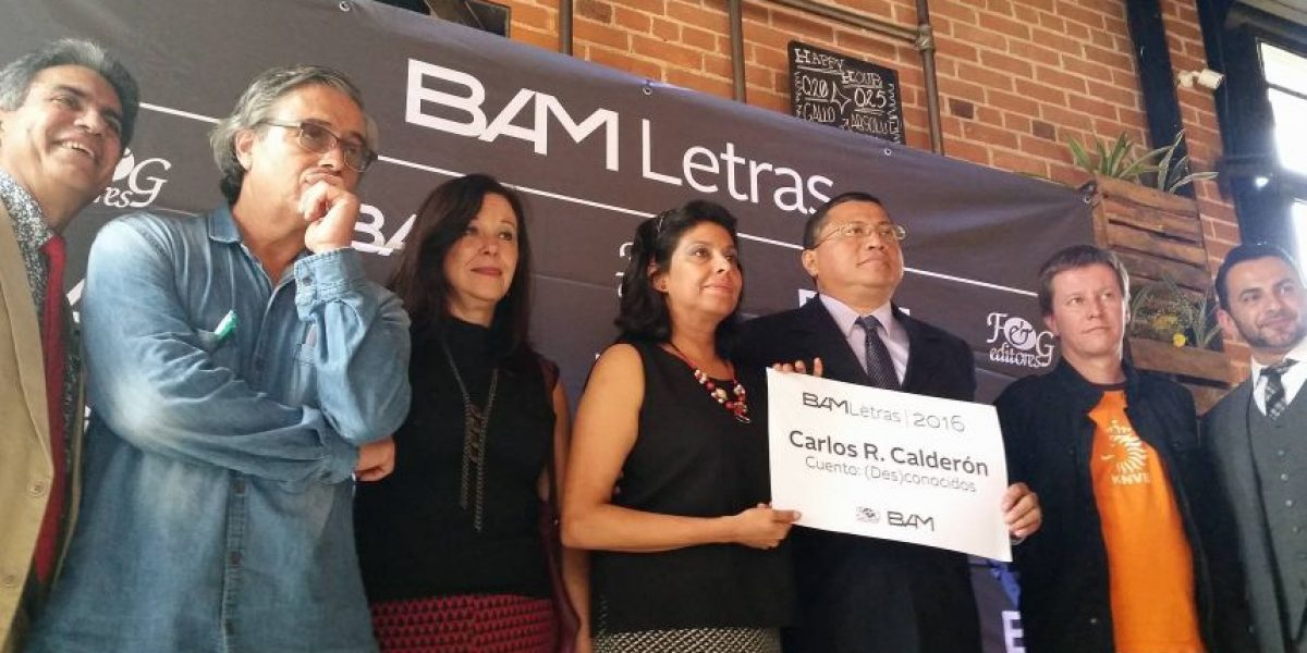 Carlos Roberto Calderón del Cid gana el Certamen BAM Letras 2016
