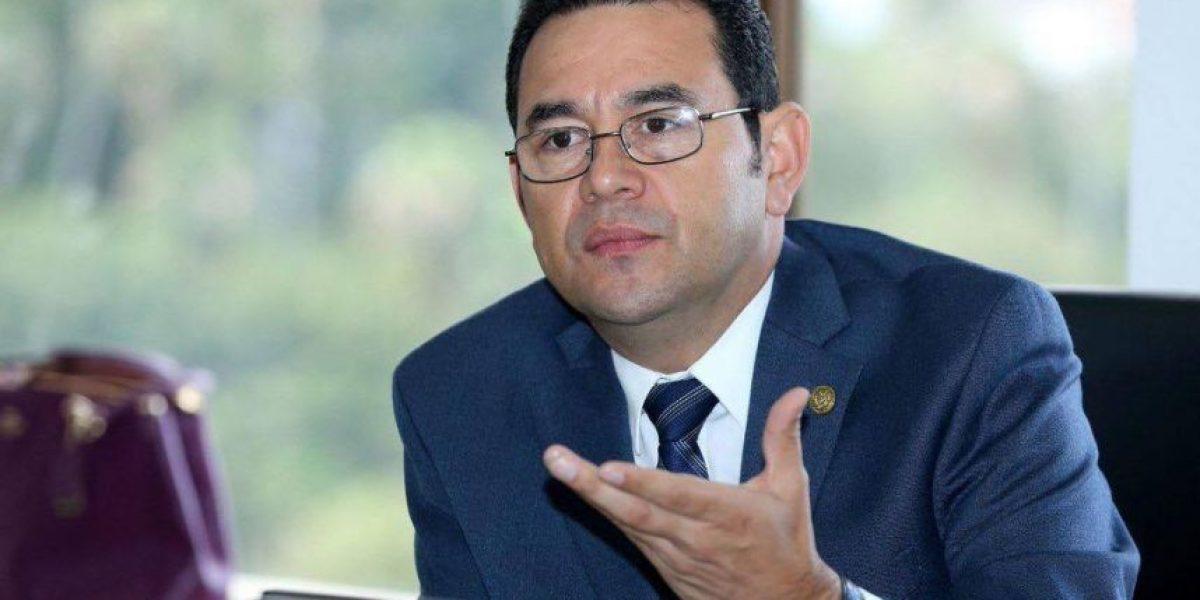 """Jimmy Morales pide a empresarios trabajar """"en equipo"""" por este motivo"""