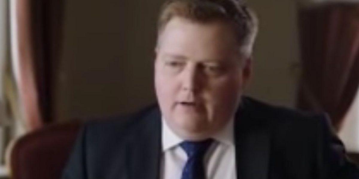 Video: Reacción del primer ministro de Islandia por caso