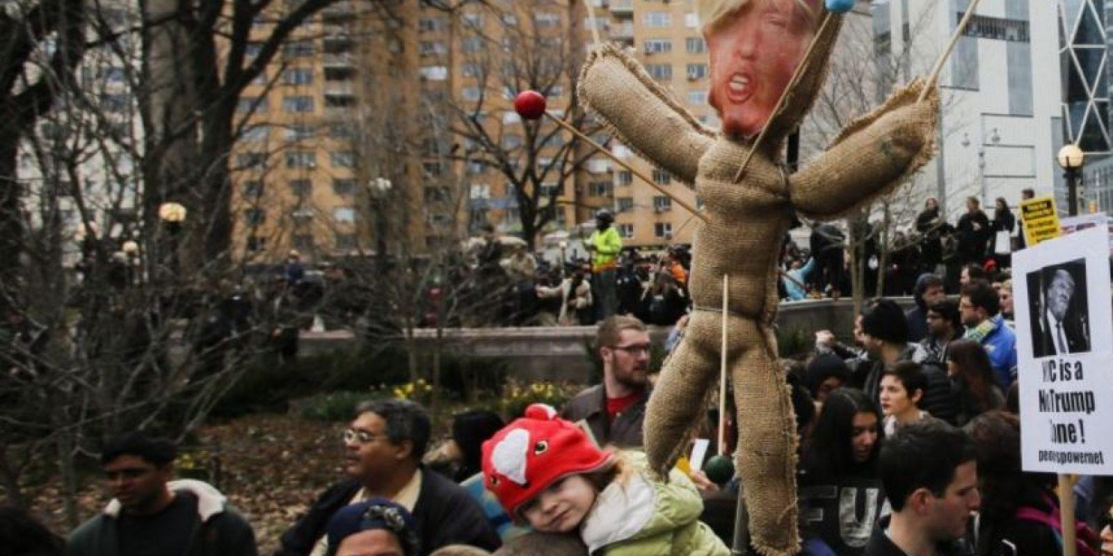 Las manifestaciones de odio contra Donald Trump Foto:Getty Images