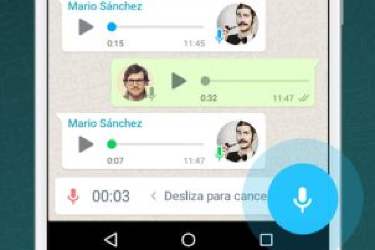 Ahora, los audios que manden a través de la app estarán seguros. Foto:WhatsApp