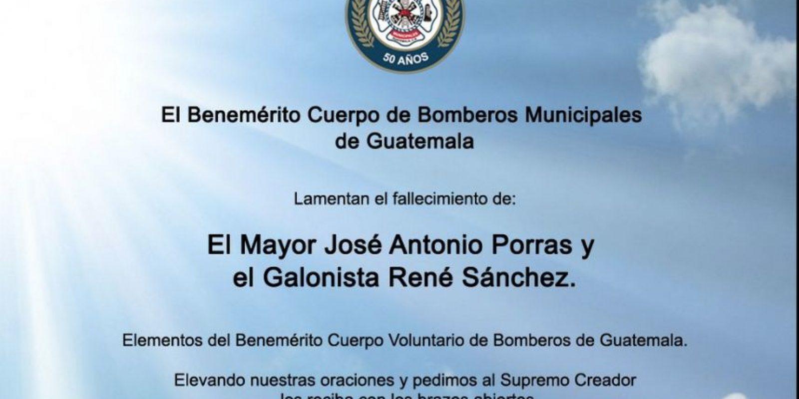 El mensaje de los Bomberos Municipales. Foto:Cortesía