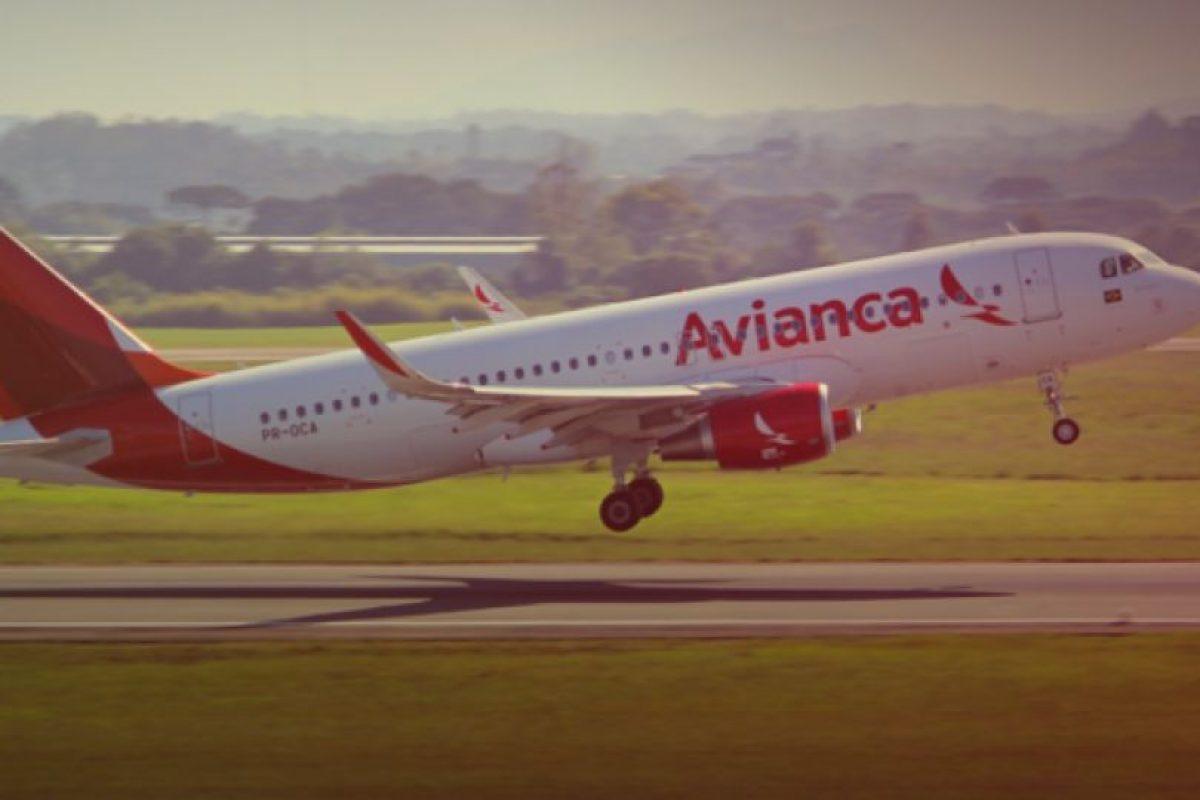 Avión de Avianca Foto:Facebook