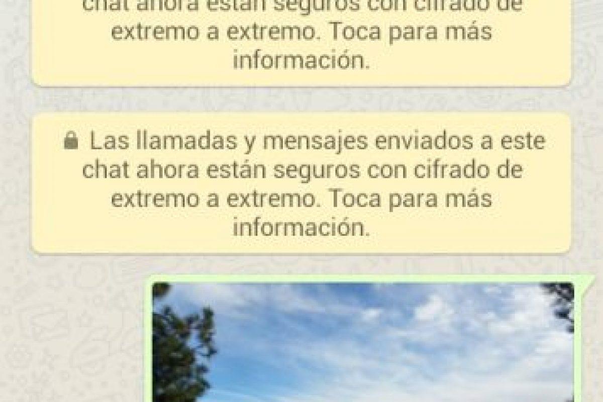 Este mensaje amarillo le ha aparecido a los usuarios Foto:WhatsApp