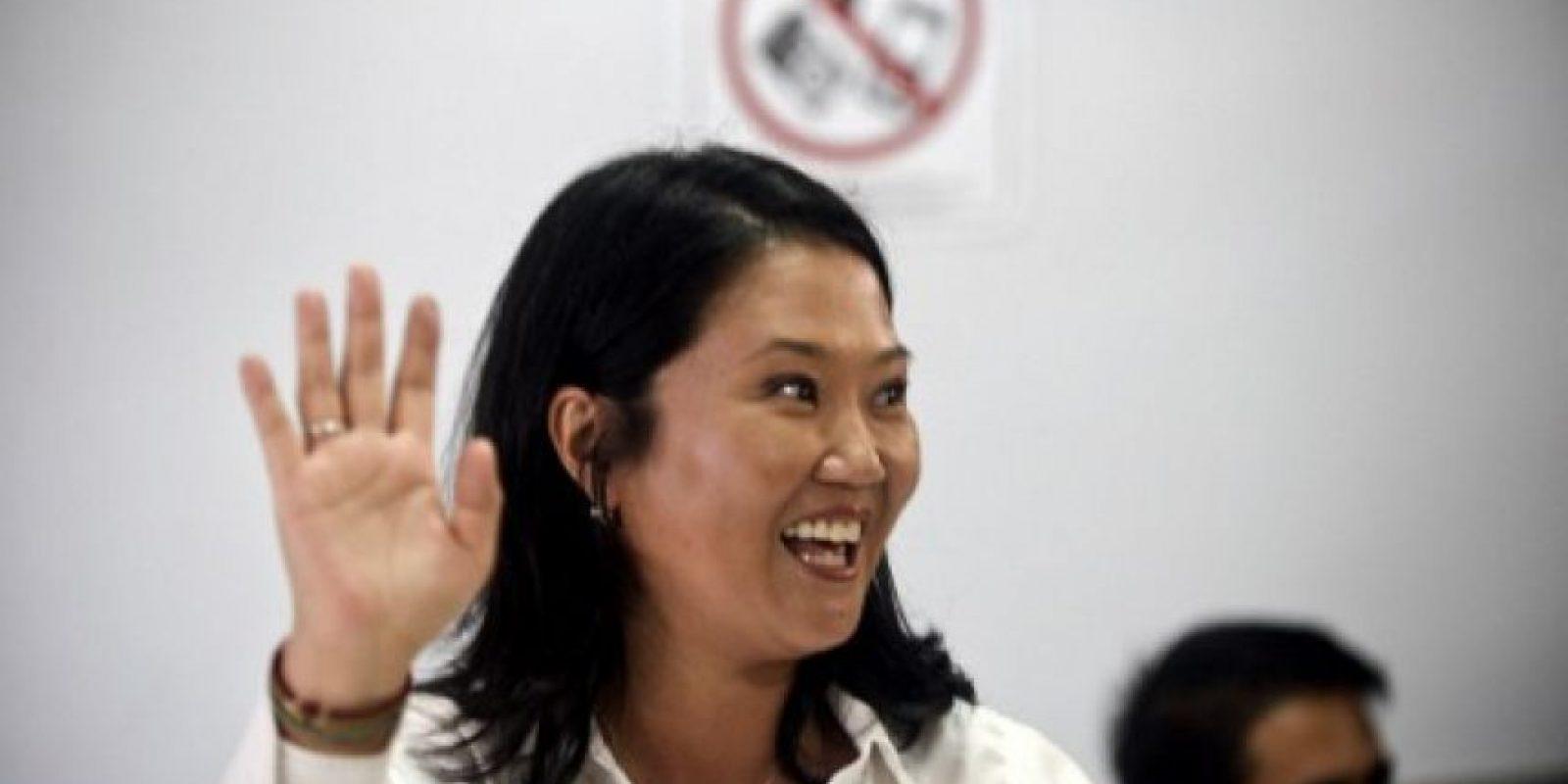 Keiko Fujimori, se colocó en primer lugar. Foto:AFP