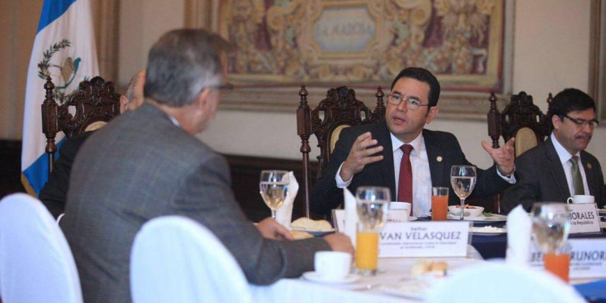 Presidente Jimmy Morales confirma que solicitará la prórroga  de la CICIG por cuatro años más