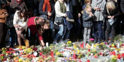 Las muestras de solidadridad con las víctimas de los atentados en Bruselas Foto:Getty Images
